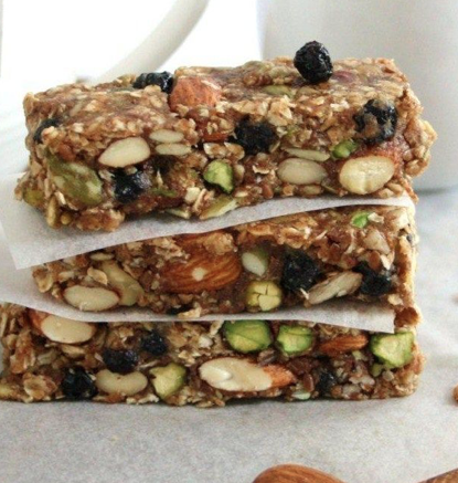 Blueberry bliss homemade protein bar